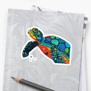 sticker tortue carnet